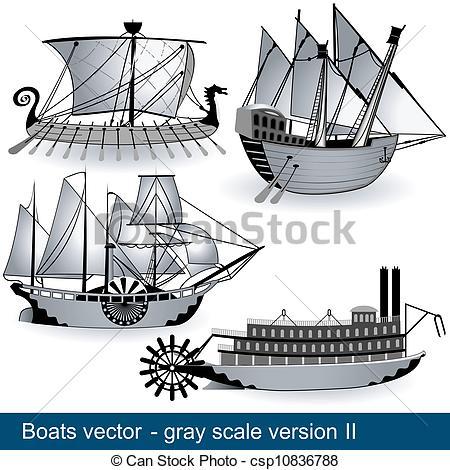Yacht clipart vapor Represent The scale Vector work