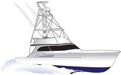 Yacht clipart vector Sportfishing Marine Fine Vector Sportfishing