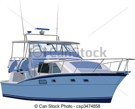 Yacht clipart vector  of set yacht Vector