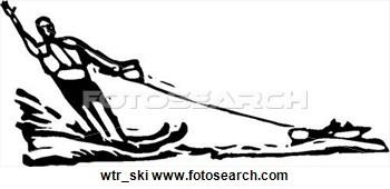 Yacht clipart water tubing Ski Art Clipart Art Boat