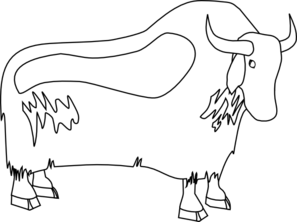 Yak clipart black and white Clip vector Clip online Outline