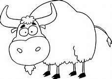 Yak clipart black and white Yak black clipart and Clipart
