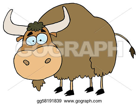 Yak clipart urial Brown Yak GoGraph Clipart Art