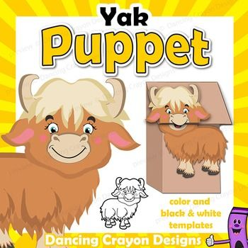 Yak clipart crayon Make printable project Y puppet