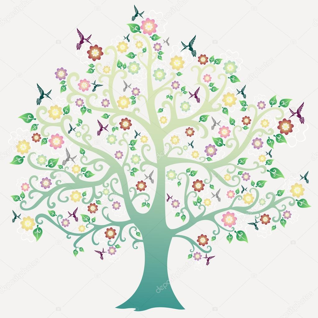 Yak clipart tree With Vector — Yak birds