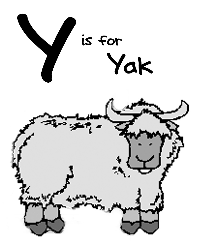Yak clipart tree Letter Being Y Y We