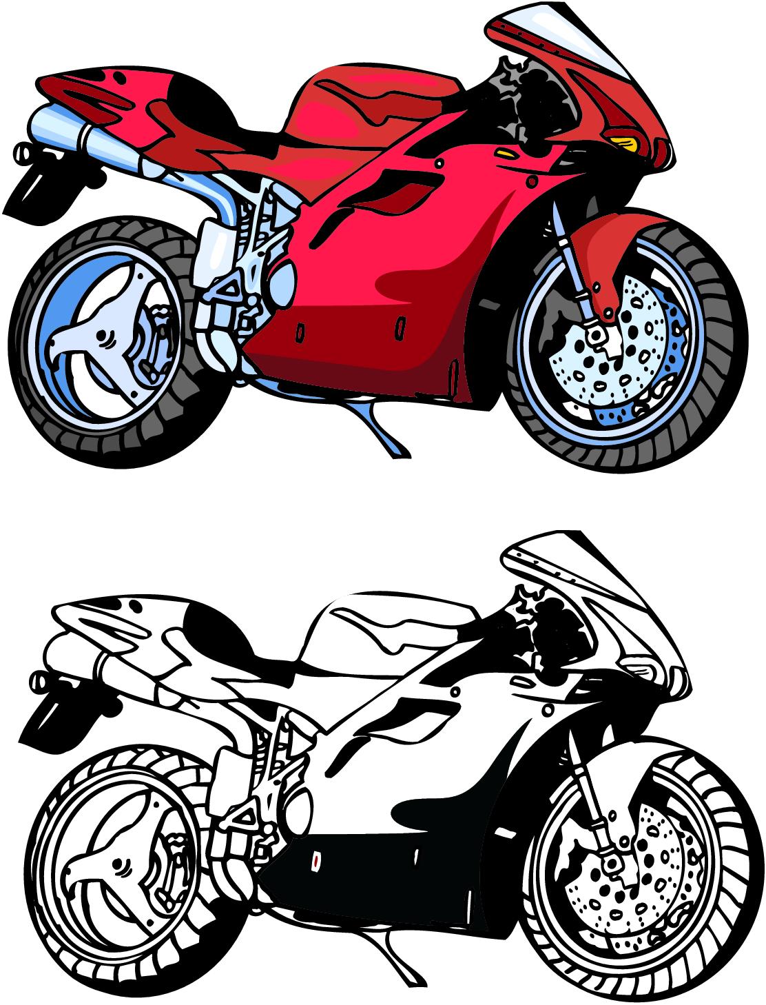 Biker clipart sportbike Lzamgs Download Motorcycle Art HD