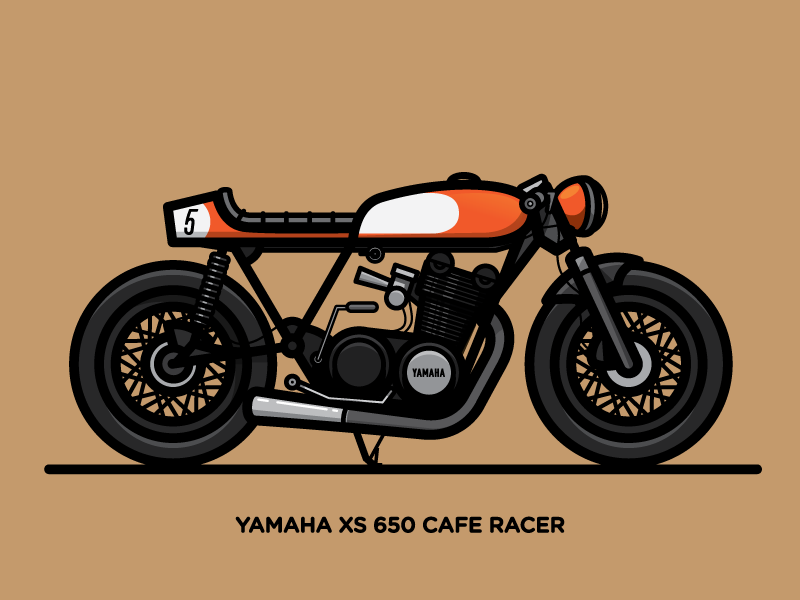 Yamaha clipart cafe racer Motorcycle Xs Cafes 650 Cafe