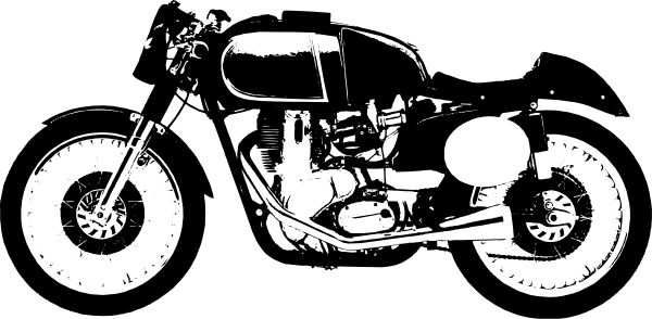 Yamaha clipart cafe racer Motorbike Kelly and Art Clip