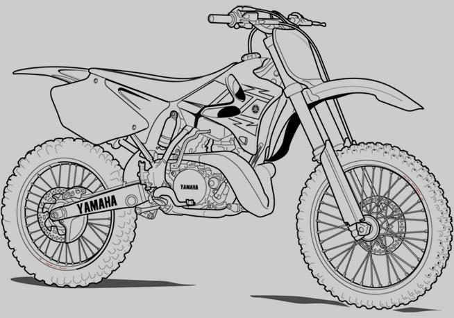 Yamaha clipart dirt bike Lineart Picture Motorcycle Bike Bike