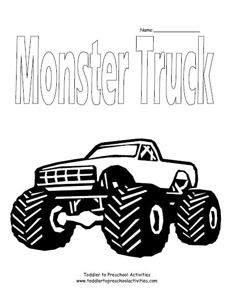 Yamaha clipart monster truck tire Images Page Coloring Monster on