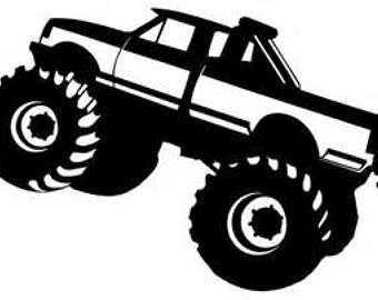 Yamaha clipart monster truck tire Etsy Monster svg monster tag