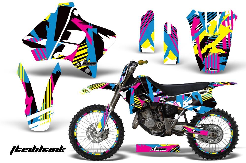 Yamaha clipart motocross helmet 125/250 Flashback Graphics YZ Motocross
