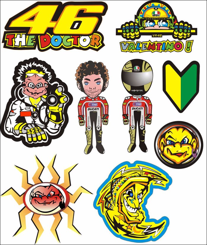 Yamaha clipart motocross helmet Group For 46 Kit VR46