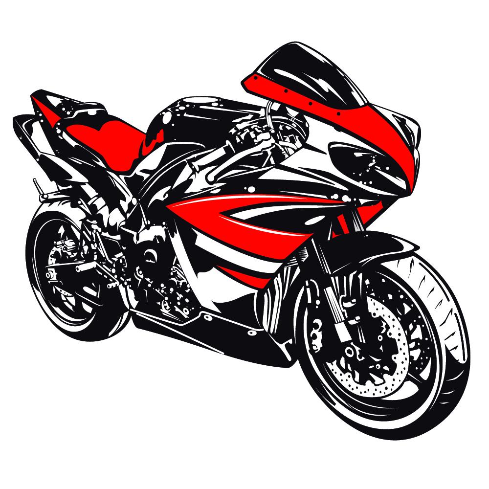 Yamaha clipart motorcycle White Yamaha & Transport Sticker