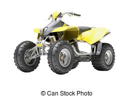 Yamaha clipart quad bike 1 Yellow Art isolated Quad