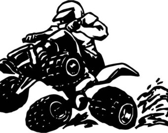 Yamaha clipart quad bike Wall Etsy Bike outline Atv