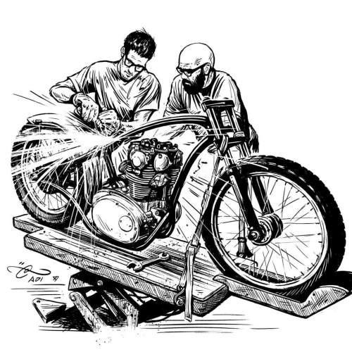 Yamaha clipart speedway Poster from One elements ink
