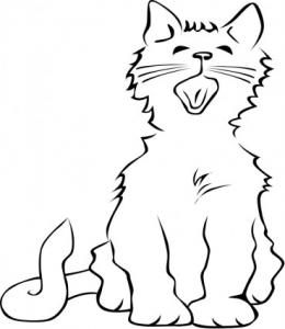 Yawn clipart black and white Yawn Download Cat Yawning Clip