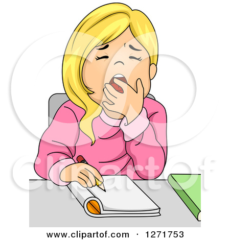 Yawn clipart bored student In class Yawn clipart in