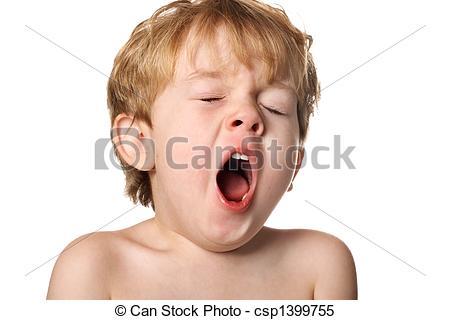 Yawn clipart tired kid Mouth opens in Stock of
