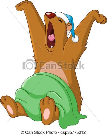 Yawn clipart woke up Waking and  Vector Clip