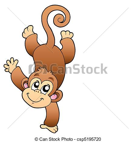 Year Of The Monkey clipart Csp5195720 Funny  monkey Clipart
