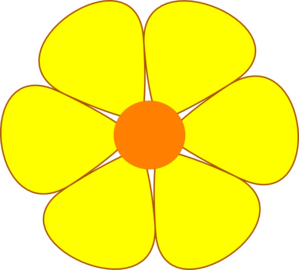 Yellow Flower clipart yellow color Com Art  online royalty