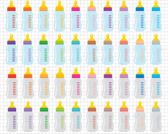 Yellow clipart baby bottle Digital Clip Etsy Art clipart