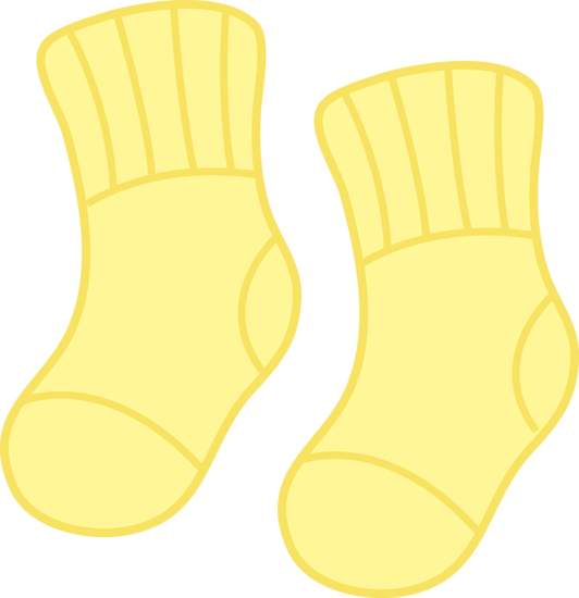 Yellow clipart baby clothes On clip socks art baby