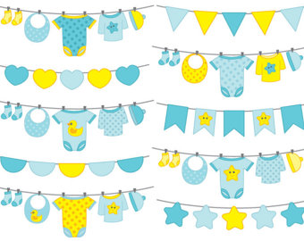 Yellow clipart baby clothes Vector Etsy Boy SALE Digital