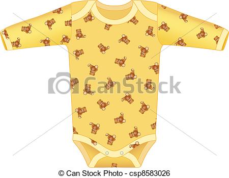 Yellow clipart baby clothes Clothing Art clothing baby baby