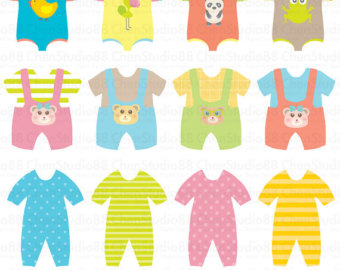 Yellow clipart baby clothes Pdf Clipart vector EPS clothes
