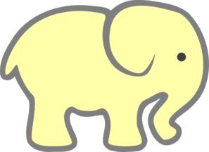 Yellow clipart baby elephant Clipart clipart Baby clip Baby