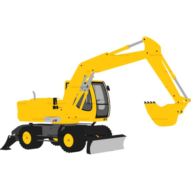 Yellow clipart backhoe Backhoe Backhoe Yellow Cliparts The