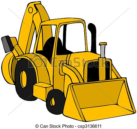 Yellow clipart backhoe Backhoe This csp3136611 of Backhoe