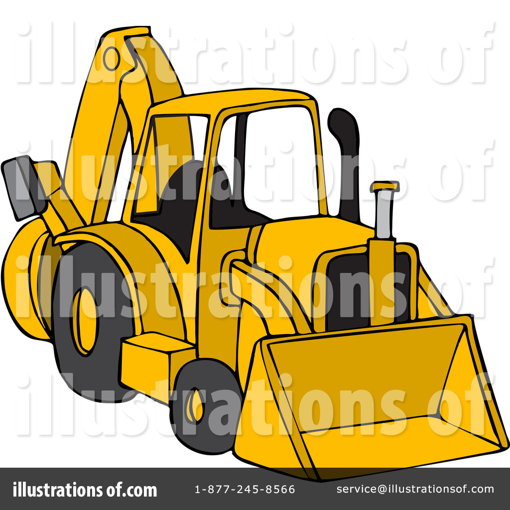 Yellow clipart backhoe Clipart Illustration Free Backhoe Royalty