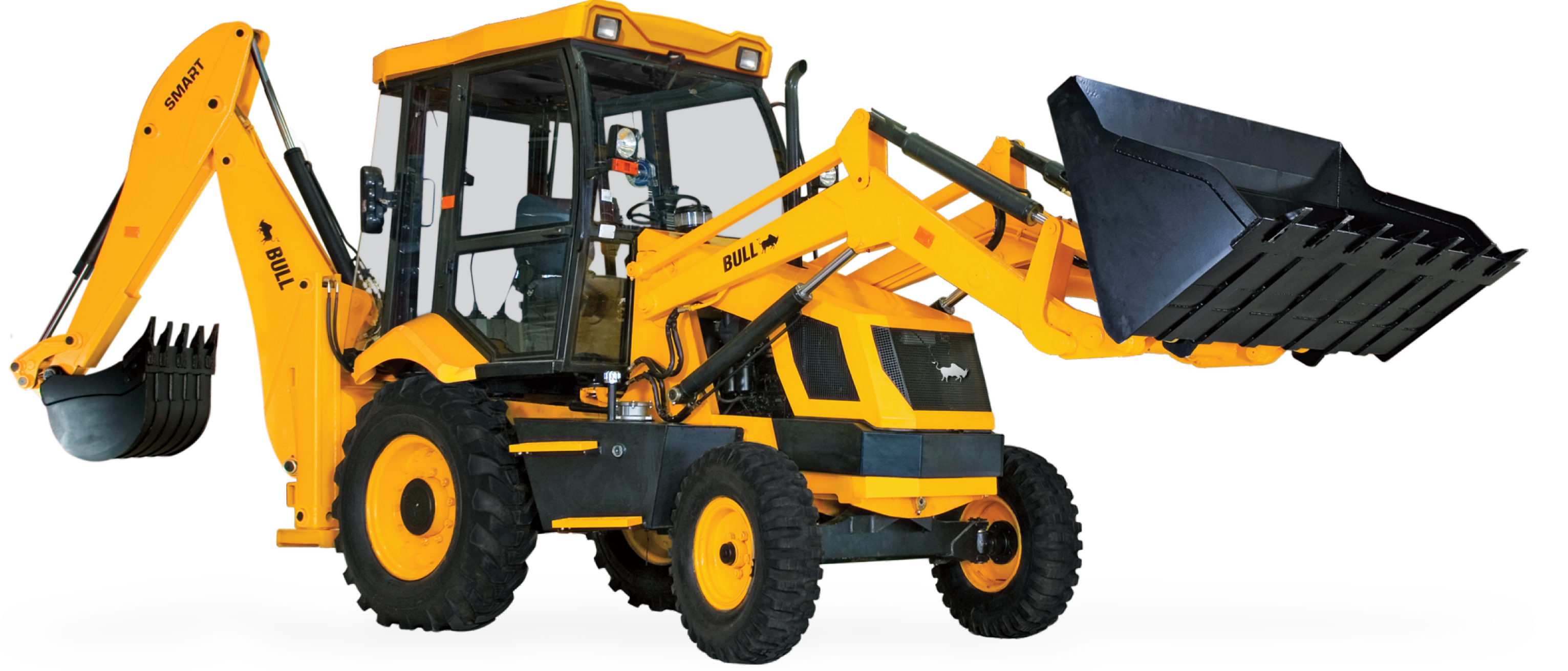 Yellow clipart backhoe Backhoe Free Smart loader Bull