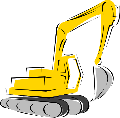 Yellow clipart backhoe Yellow Backhoe Yellow Clipart Drawing