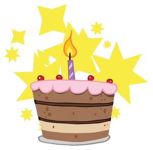 Yellow clipart birthday cake Birthday First Image: First