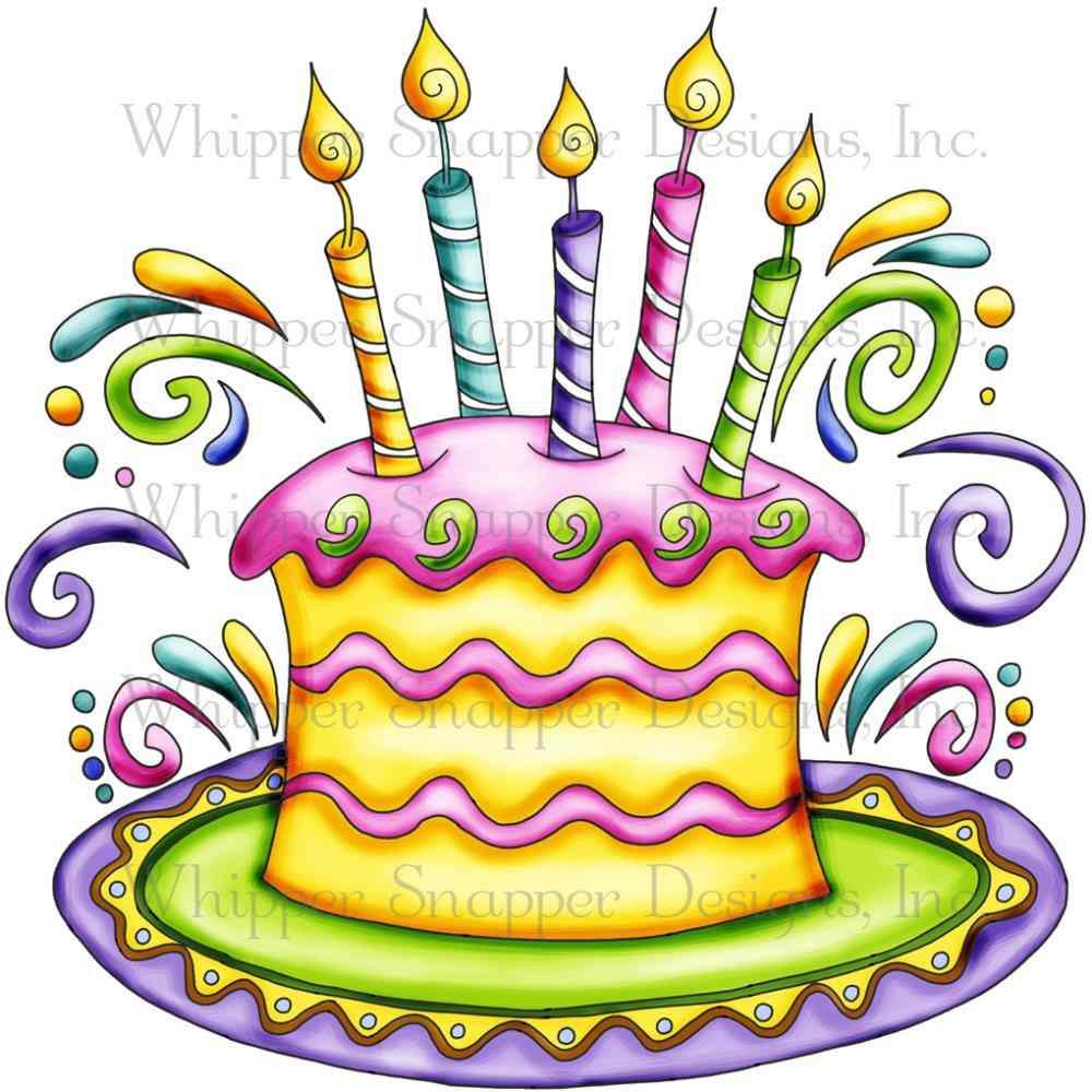 Yellow clipart birthday cake 04 Cake com (MISS Clip