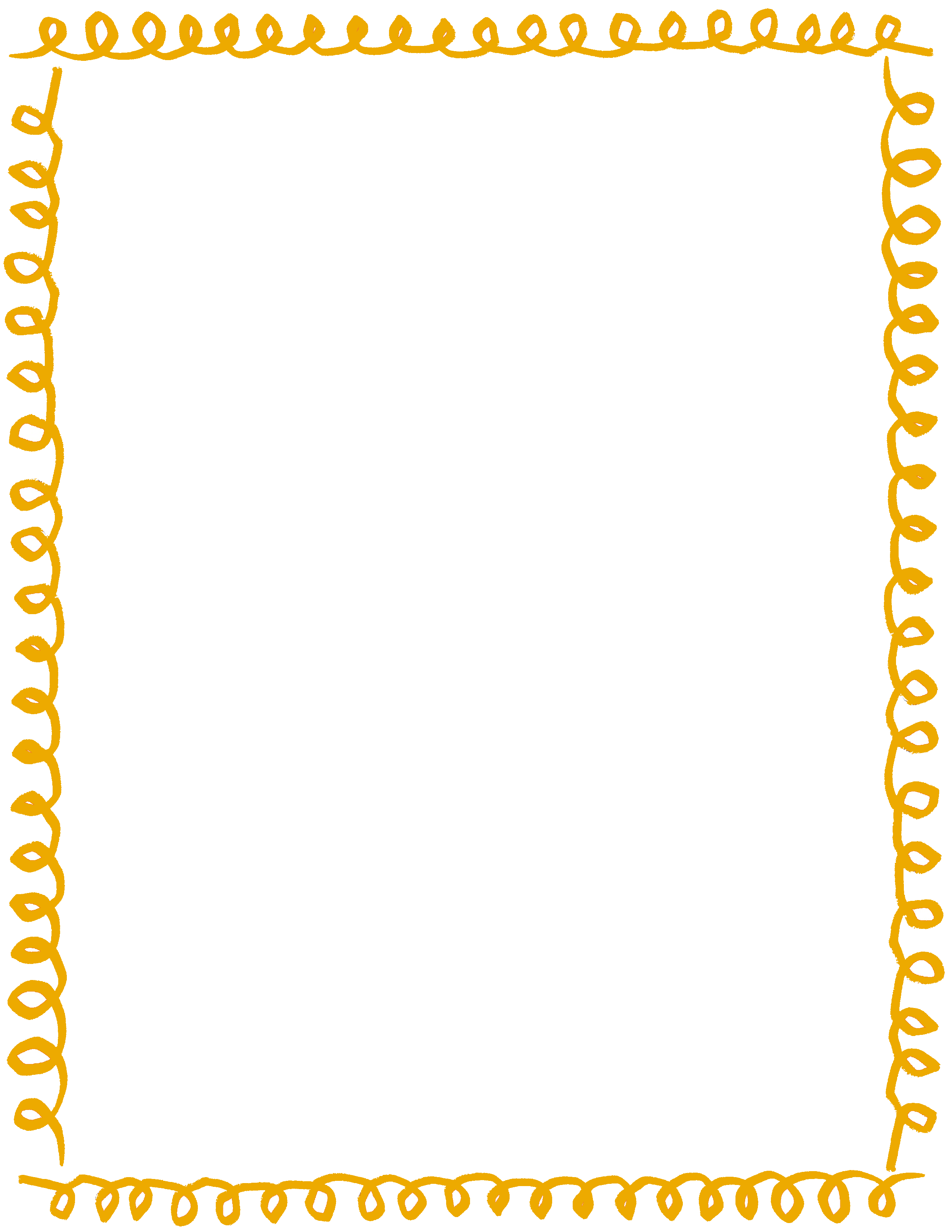 Yellow clipart boarder  Collection Rope Border clipart