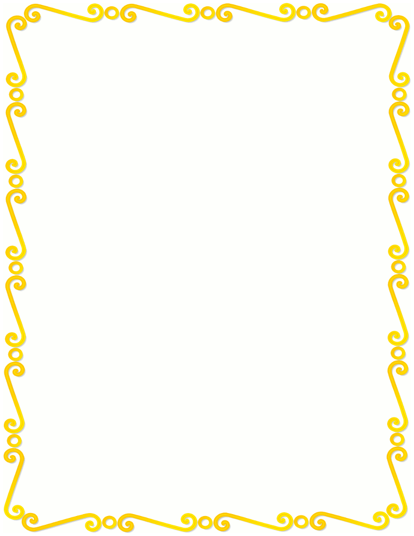 Yellow clipart boarder /page_frames/spiral_border spirals html yellow /page_frames/spiral_border/yellow_spirals_border