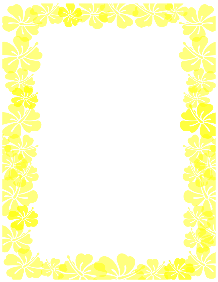 Yellow clipart boarder Hibiscus Yellow border Free Border
