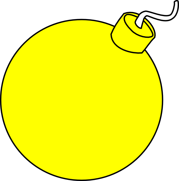 Yellow clipart bomb Cliparts com Yellow Cliparting bomb