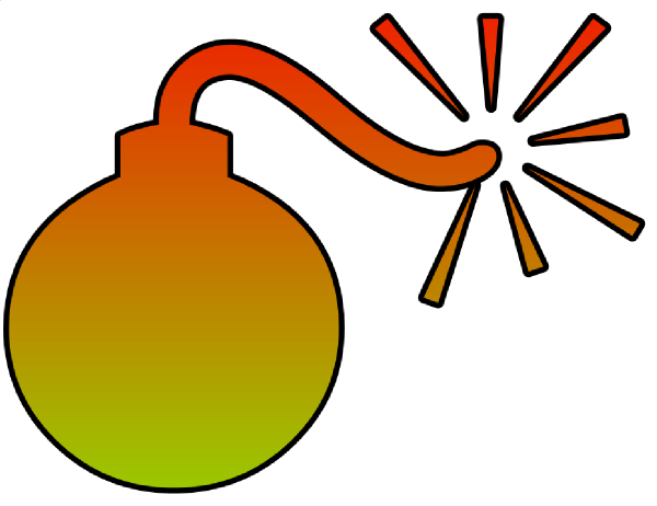 Yellow clipart bomb Vector art  Download clip