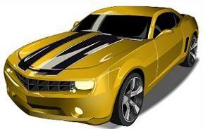 Yellow clipart camaro Clipart Camaro Yello Camaro Free