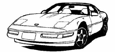 Yellow clipart corvette Corvette · vette95 · clipart