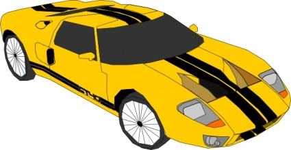 Yellow clipart corvette Images com Clipartion Clipart Corvette