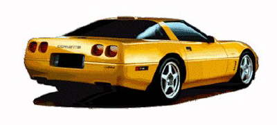 Yellow clipart corvette  #920 Free Corvette art